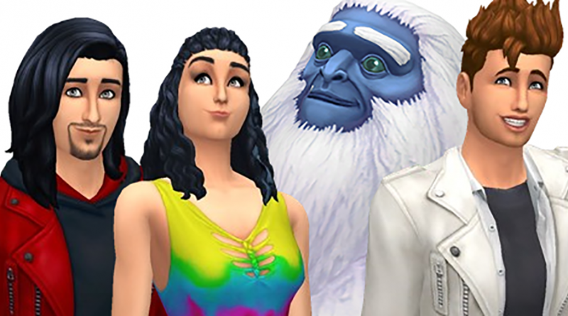 Characters including a yeti